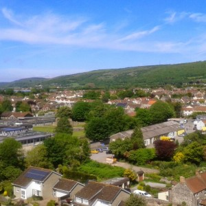 Cheddar village from St. Andrews Church tower